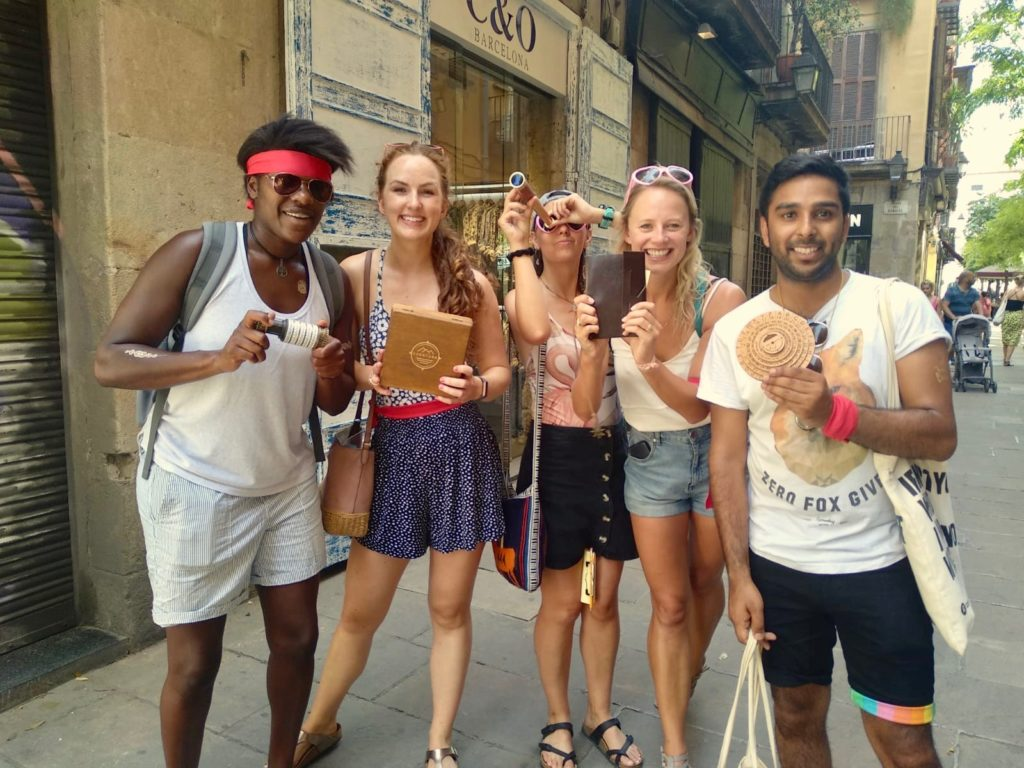 Xventura treasure hunt Barcelona teambuilding groupactivity