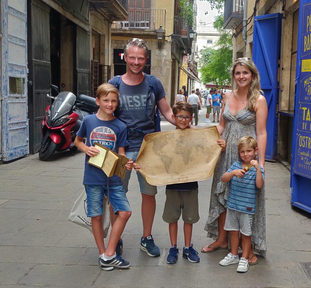 Barcelona met kinderen, speurtocht Xventura